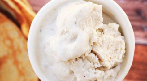 גלידת דבש מקרם קוקוס + גרסא טבעונית